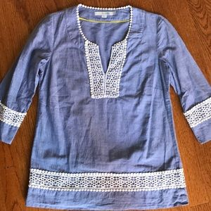 Boden Chambray Tunic Top 2P (like XXS or PXS)